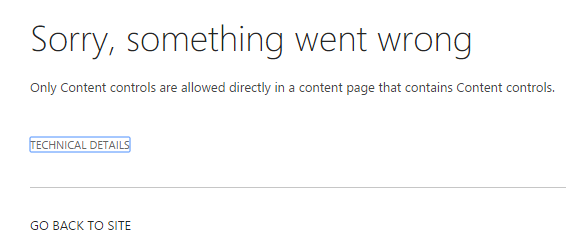 Office 365 - SharePoint - Exception on page which is created from new custom page layout