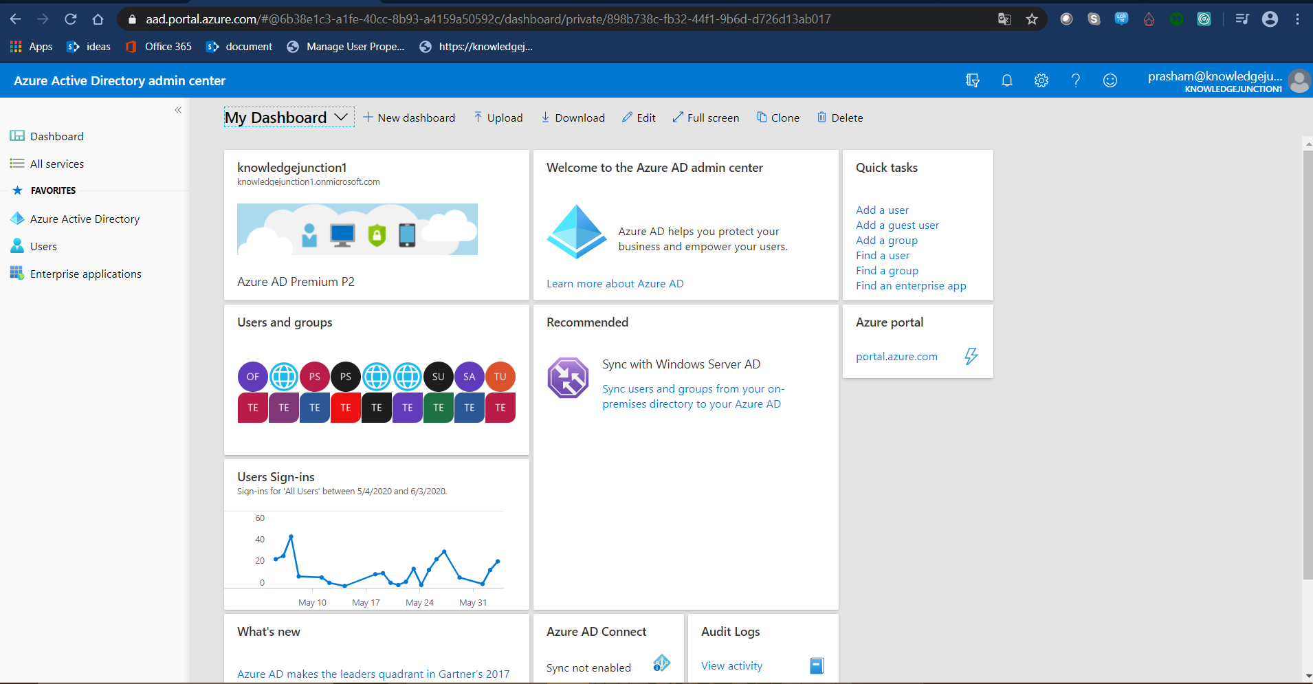 Azure AD Admin Center