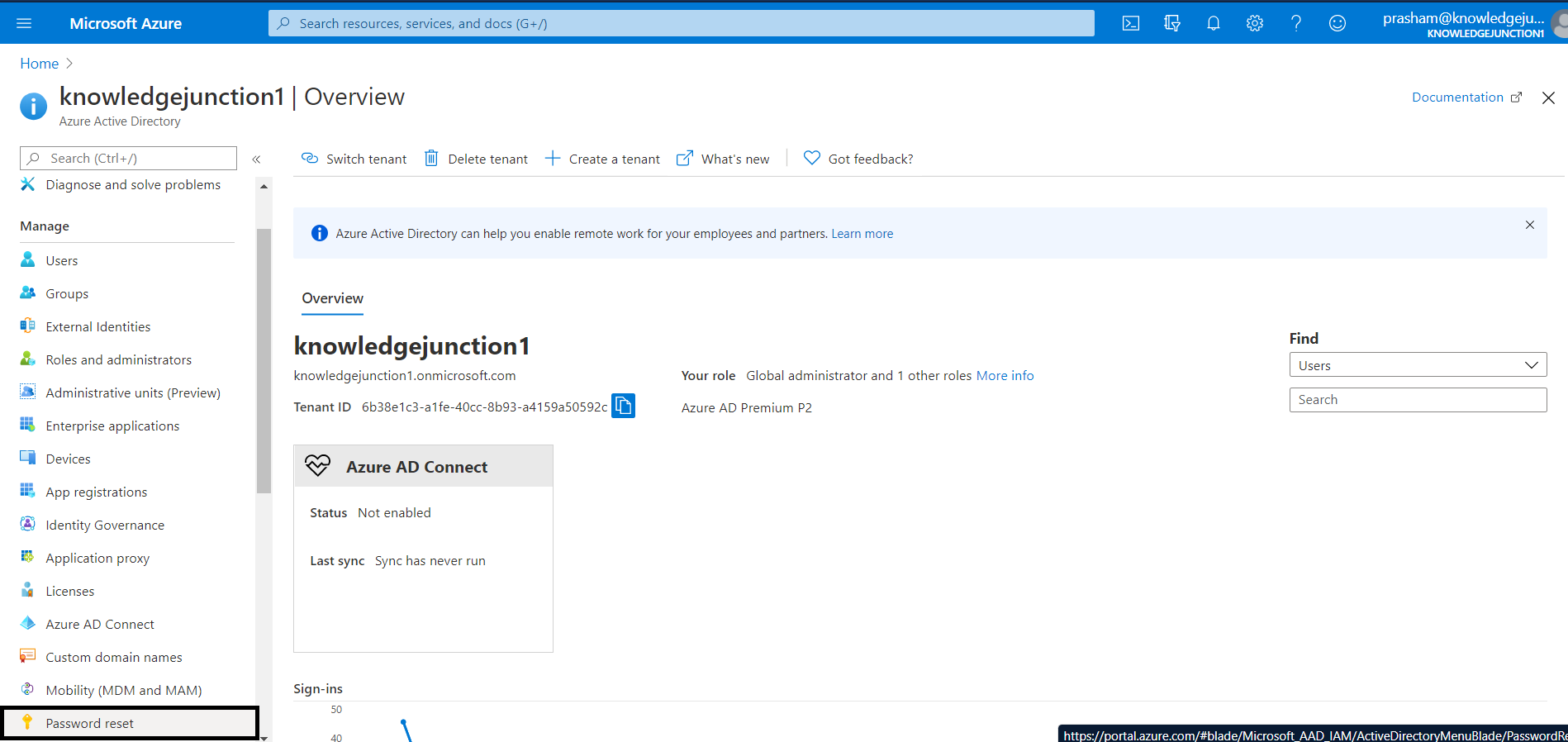 Azure AD - Self - Service Password Reset
